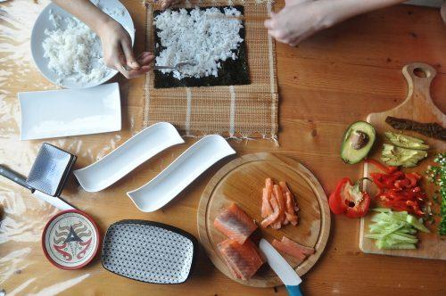 Hjemmelavet sushi inden rejsen